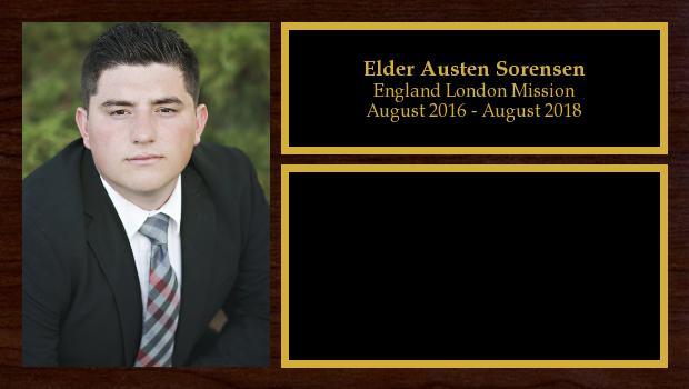August 2016 to August 2018<br/>Elder Austen Sorensen