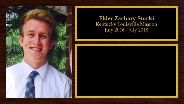 July 2016 to July 2018<br/>Elder Zachary Stucki