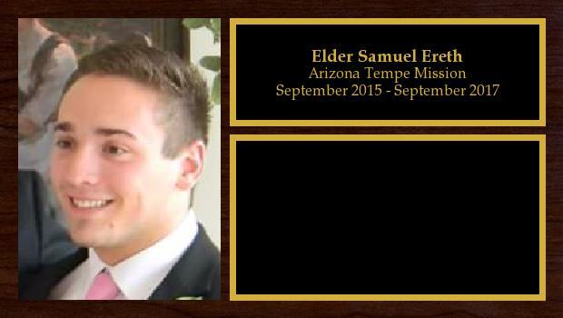 September 2015 to September 2017<br/>Elder Samuel Ereth