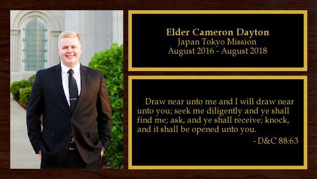 August 2016 to August 2018<br/>Elder Cameron Dayton