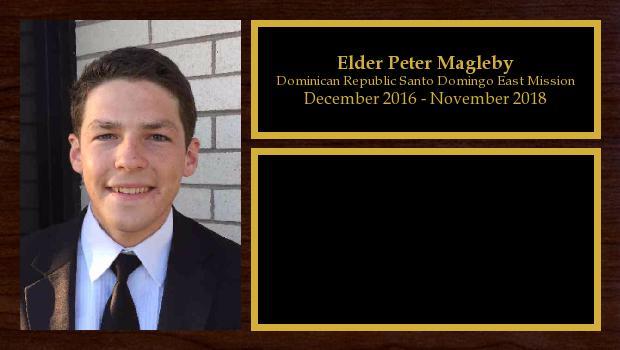 December 2016 to November 2018<br/>Elder Peter Magleby