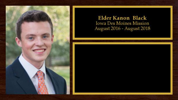 August 2016 to August 2018<br/>Elder Kanon  Black
