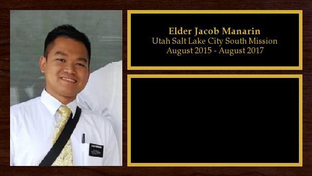 August 2015 to August 2017<br/>Elder Jacob Manarin