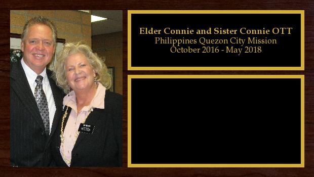 October 2016 to May 2018<br/>Elder Connie and Sister Connie OTT