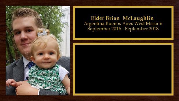 September 2016 to September 2018<br/>Elder Brian  McLaughlin