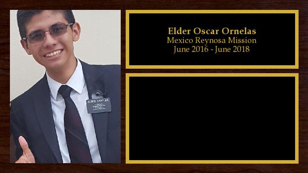 June 2016 to June 2018<br/>Elder Oscar Ornelas