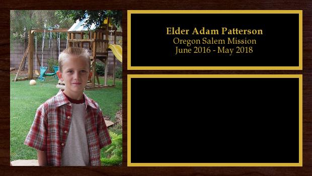 June 2016 to May 2018<br/>Elder Adam Patterson
