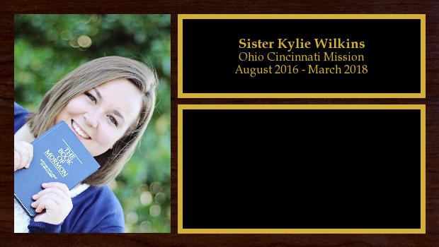 August 2016 to March 2018<br/>Sister Kylie Wilkins
