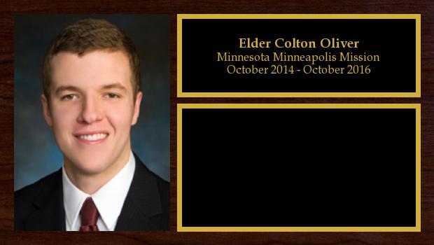 October 2014 to October 2016<br/>Elder Colton Oliver
