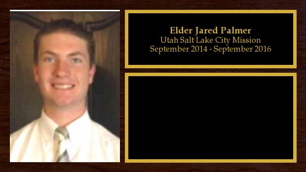 September 2014 to September 2016<br/>Elder Jared Palmer