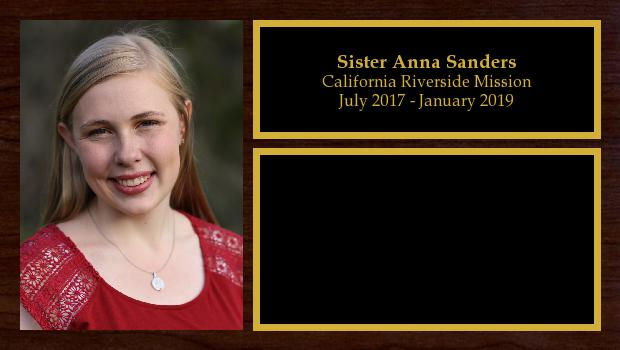 July 2017 to January 2019<br/>Sister Anna Sanders