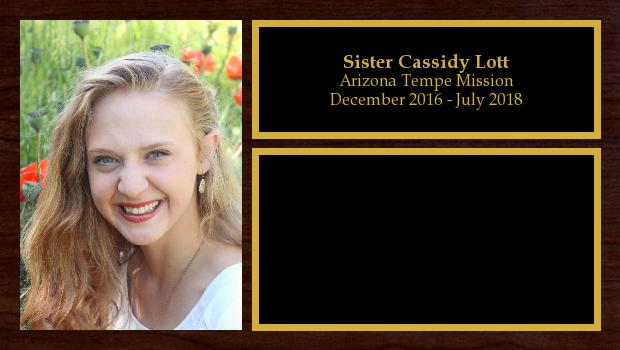 December 2016 to July 2018<br/>Sister Cassidy Lott