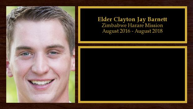 August 2016 to August 2018<br/>Elder Clayton Jay Barnett