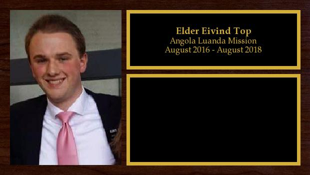 August 2016 to August 2018<br/>Elder Eivind Top