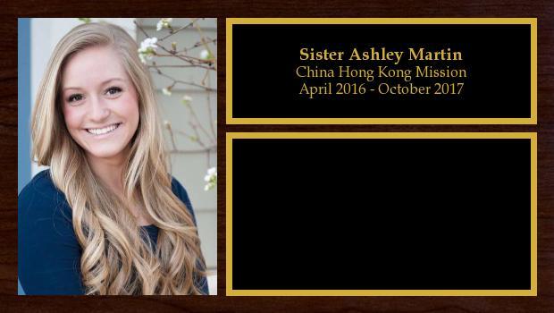 April 2016 to October 2017<br/>Sister Ashley Martin