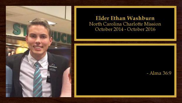 October 2014 to October 2016<br/>Elder Ethan Washburn