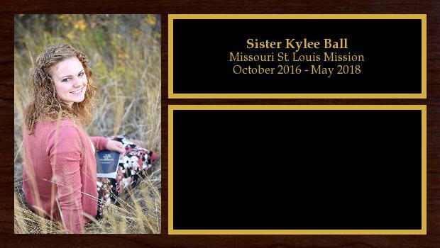October 2016 to May 2018<br/>Sister Kylee Ball