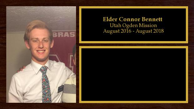 August 2016 to August 2018<br/>Elder Connor Bennett