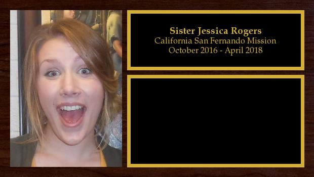 October 2016 to April 2018<br/>Sister Jessica Rogers