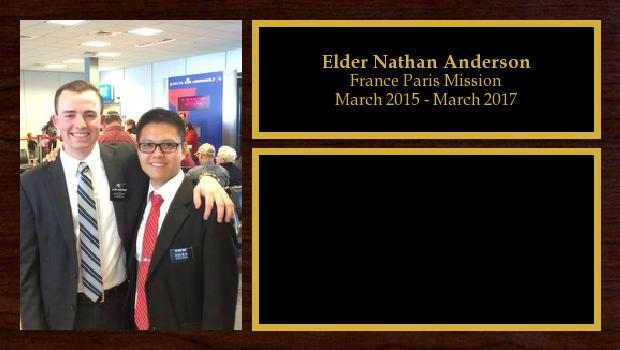 March 2015 to March 2017<br/>Elder Nathan Anderson
