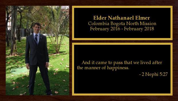 February 2016 to February 2018<br/>Elder Nathanael Elmer