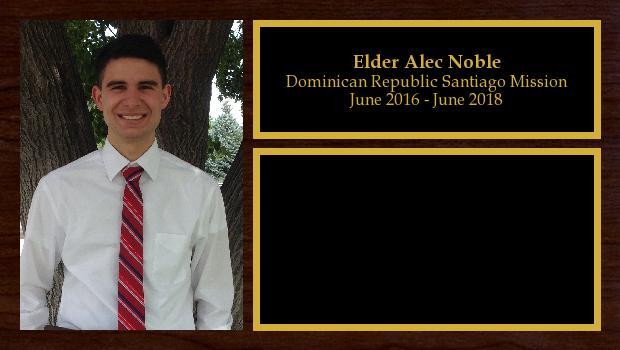 June 2016 to June 2018<br/>Elder Alec Noble
