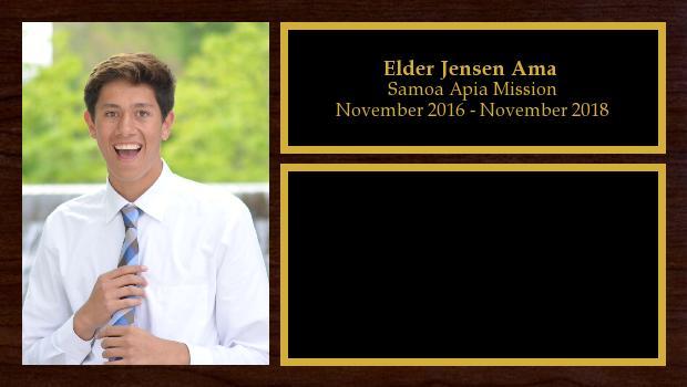 November 2016 to November 2018<br/>Elder Jensen Ama
