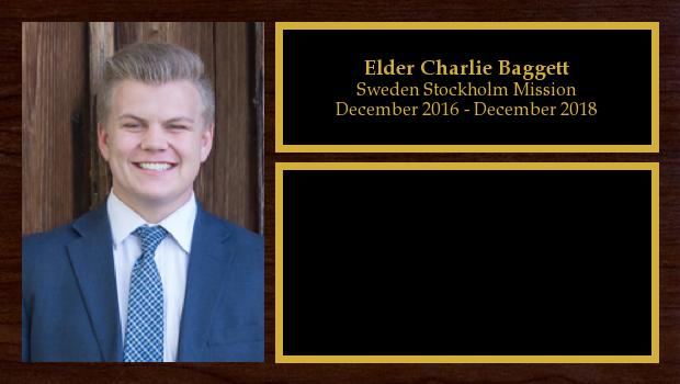 December 2016 to December 2018<br/>Elder Charlie Baggett