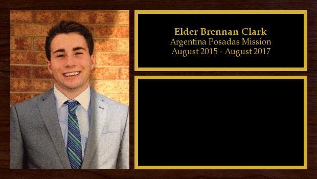 August 2015 to August 2017<br/>Elder Brennan Clark