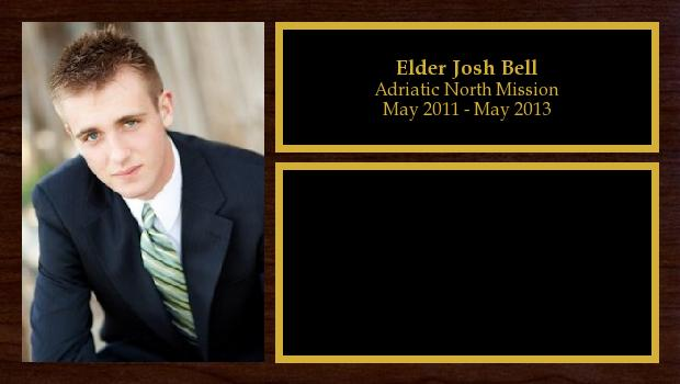 May 2011 to May 2013<br/>Elder Josh Bell
