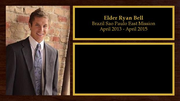 April 2013 to April 2015<br/>Elder Ryan Bell