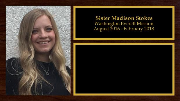 August 2016 to February 2018<br/>Sister Madison Stokes