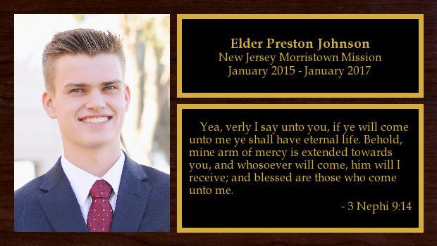 January 2015 to January 2017<br/>Elder Preston Johnson