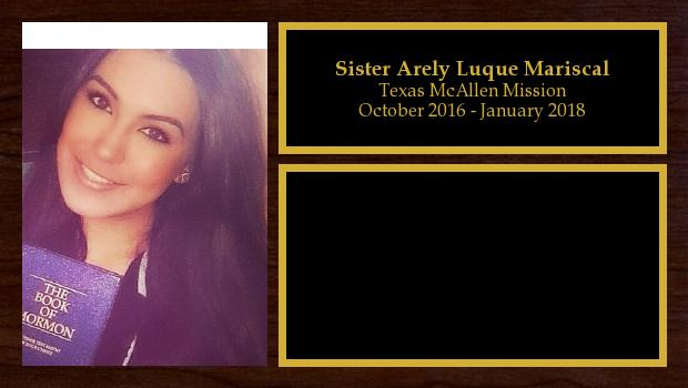 October 2016 to January 2018<br/>Sister Arely Luque Mariscal