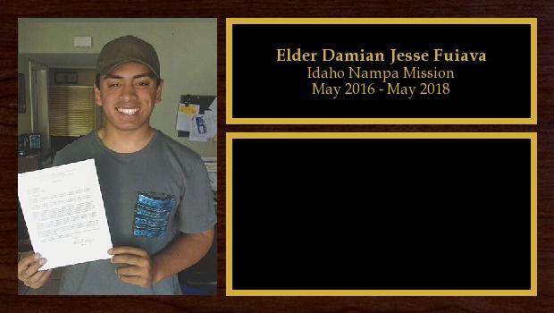May 2016 to May 2018<br/>Elder Damian Jesse Fuiava