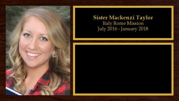 July 2016 to January 2018<br/>Sister Mackenzi Taylor