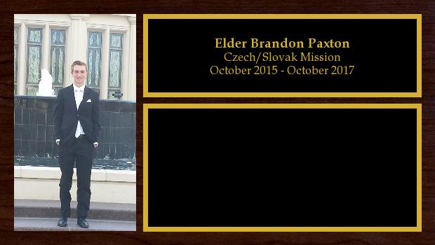 October 2015 to October 2017<br/>Elder Brandon Paxton