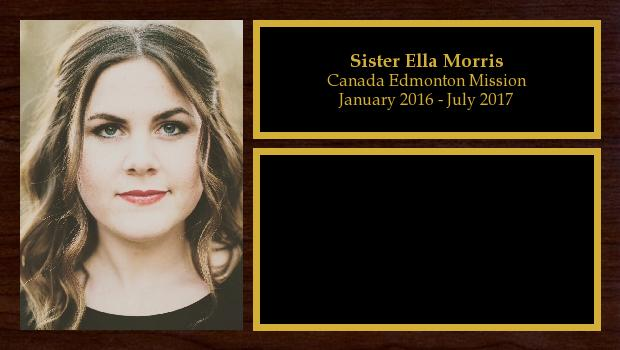 January 2016 to August 2017<br/>Sister Ella Morris