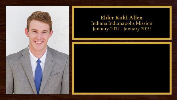 January 2017 to January 2019<br/>Elder Kohl Allen