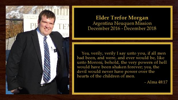 December 2016 to December 2018<br/>Elder Trefor Morgan