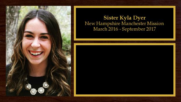 March 2016 to May 2017<br/>Sister Kyla Dyer
