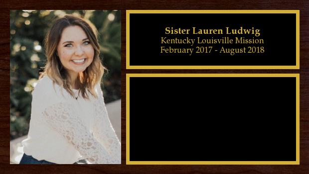 February 2017 to July 2018<br/>Sister Lauren Ludwig