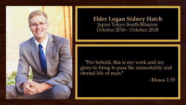October 2016 to October 2018<br/>Elder Logan Sidney Hatch