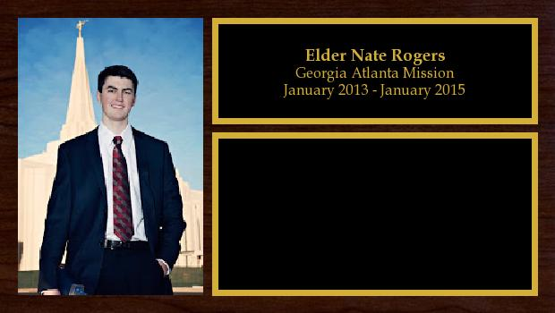 January 2013 to January 2015<br/>Elder Nate Rogers