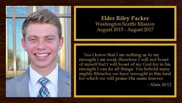 August 2015 to August 2017<br/>Elder Riley Packer