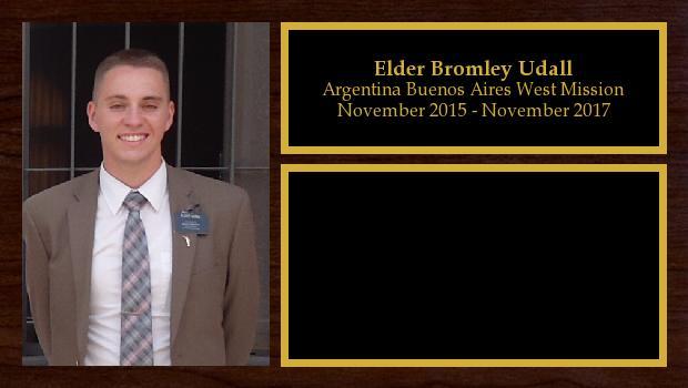 November 2015 to November 2017<br/>Elder Bromley Udall