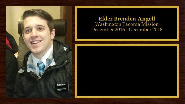 December 2016 to December 2018<br/>Elder Brenden Angell