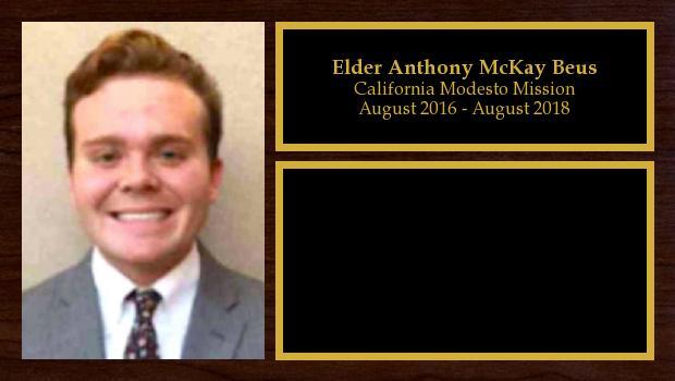 August 2016 to June 2018<br/>Elder Anthony McKay Beus