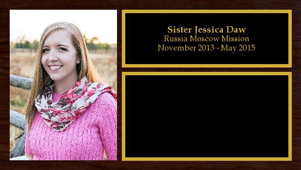 November 2013 to May 2015<br/>Sister Jessica Daw