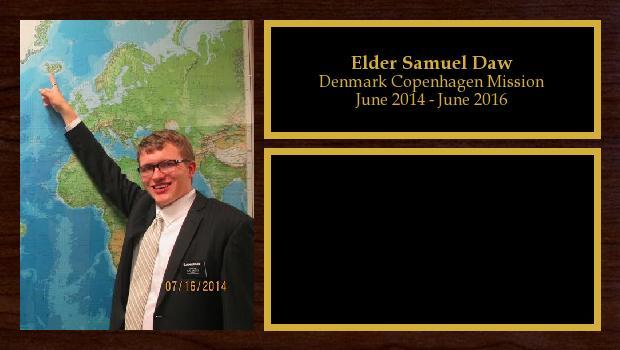 June 2014 to June 2016<br/>Elder Samuel Daw